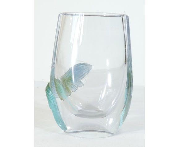 Vase en cristal et pate de verre signé Nancy France