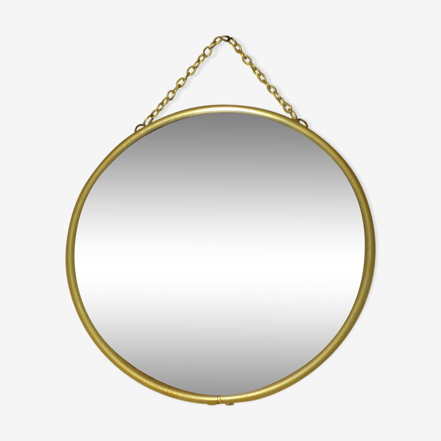 Mirror round Barber chain 1950 19cm