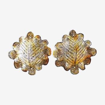 Paire d' appliques en cristal de Murano 1970