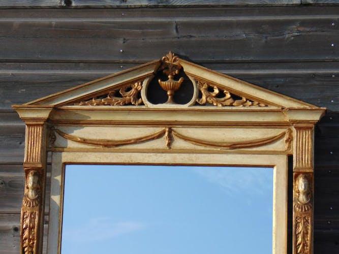 Miroir de style directoire en bois laqué 78,5x124cm