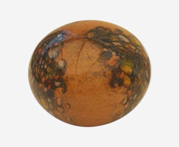 Veilleuse en verre coloré vintage