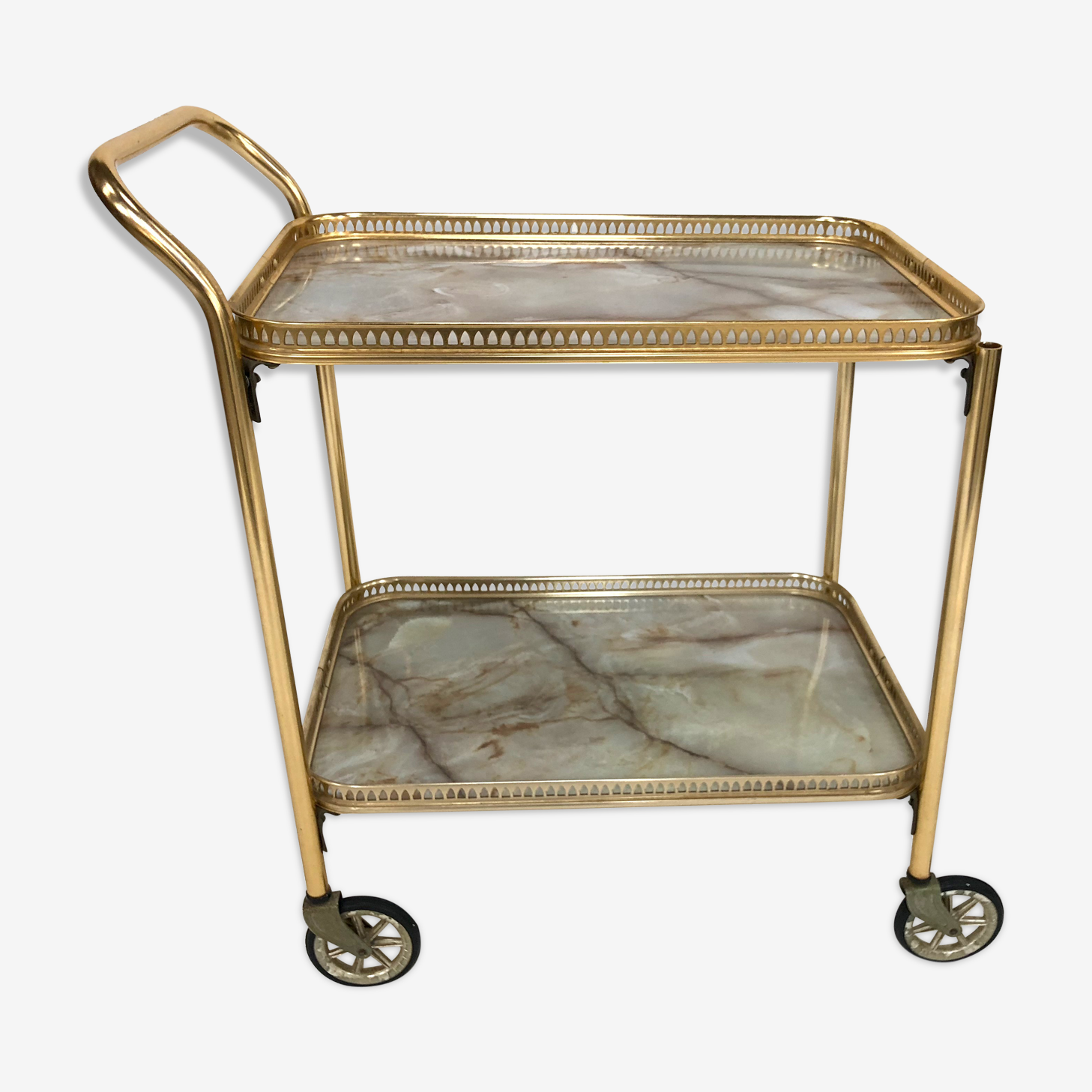 Brass Regency style serving table