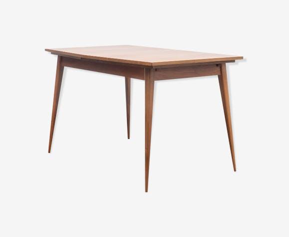 Table salle à manger vintage, bois de noyer - bois (Matériau) - bois ...