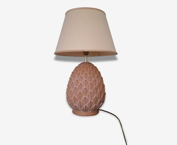 Lampe Sur Pied Facon Ananas Pierre Et Platre Vintage 76045