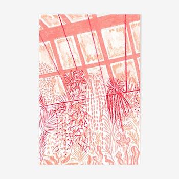 Illustration Sunset on the Glass House