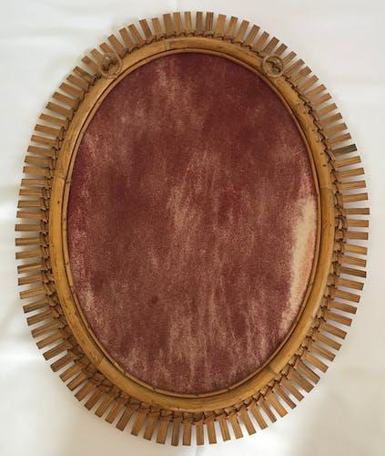 Miroir ovale Italie 1960 46x57cm