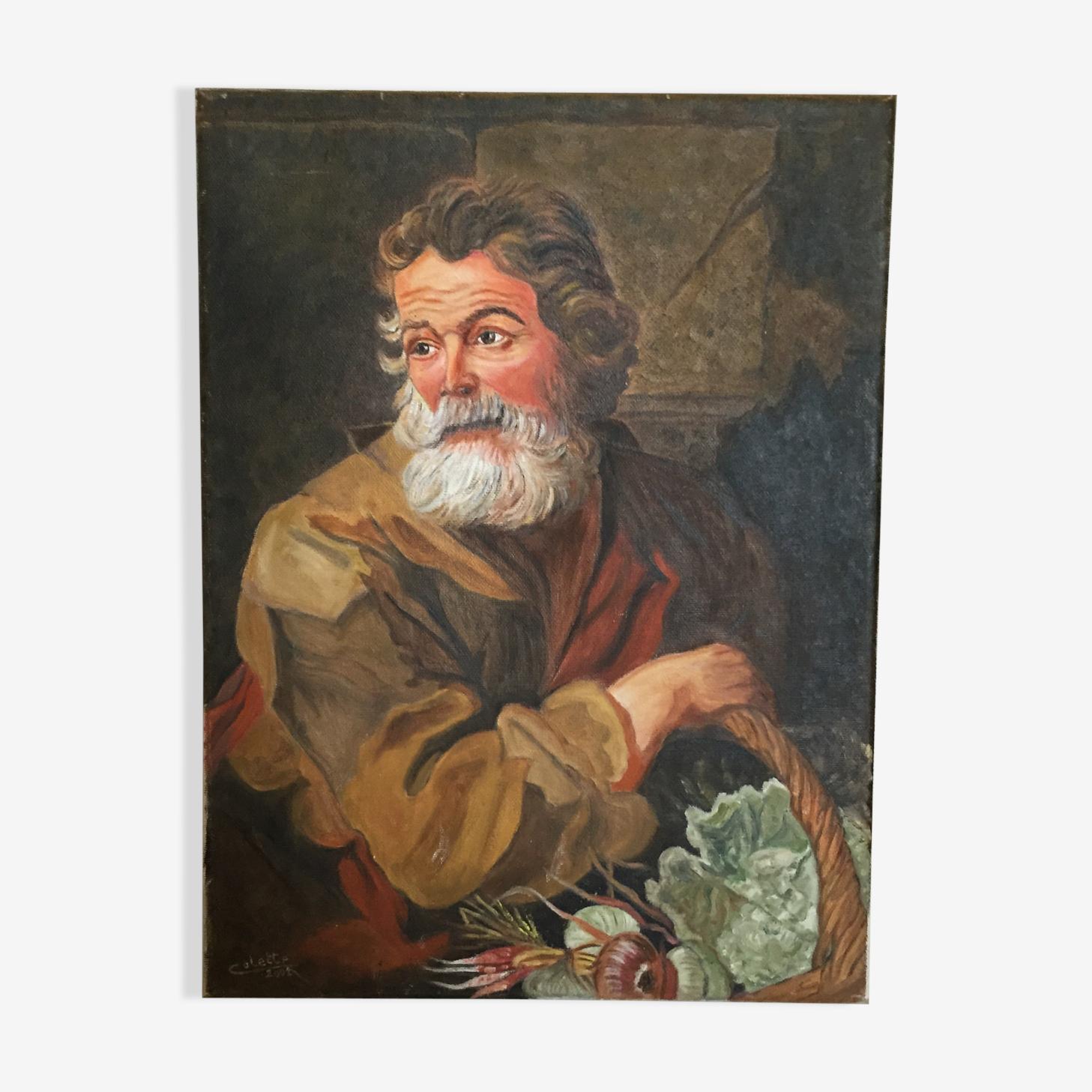Huile sur toile portrait