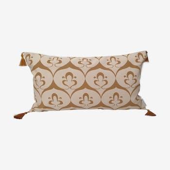 Ottoman beige cushion cover / ochre havane - 30 x 50