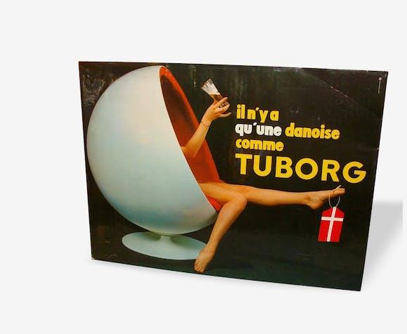 """Publicité glaçoide """"bière Tuborg"""" 1971"""