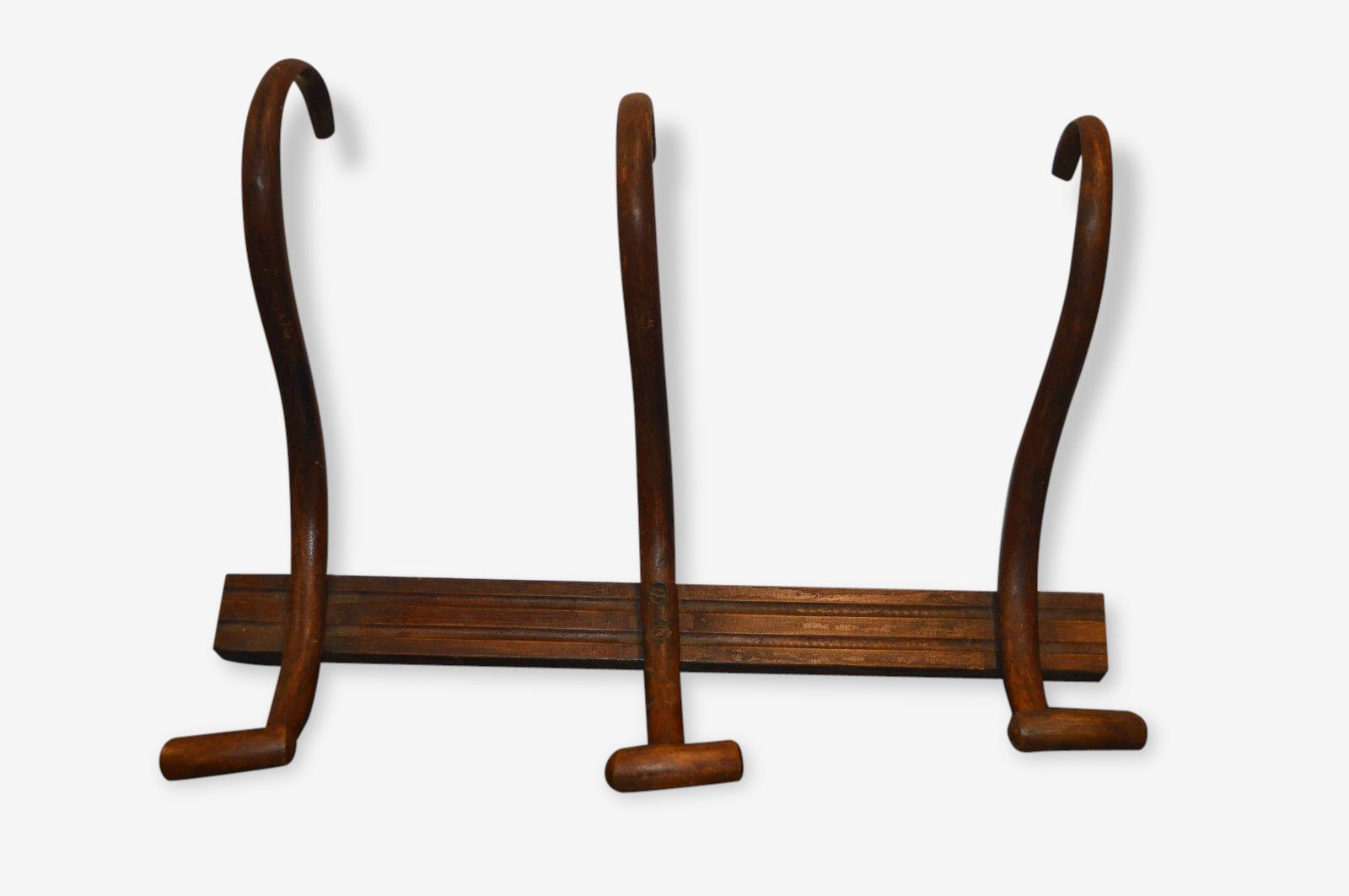 Porte manteaux en bois courbé