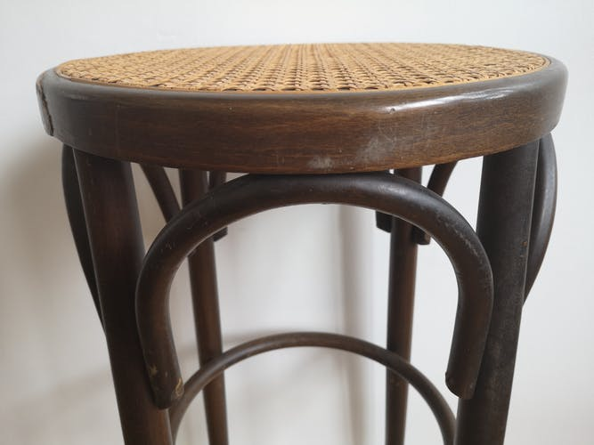 High wooden and canning stool
