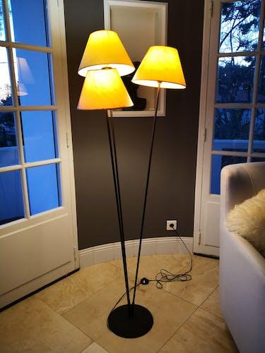 Lampadaire authentique Stellor 3 branches