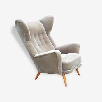 Exceptionnel Fauteuil a Oreilles Wingback chair années 50