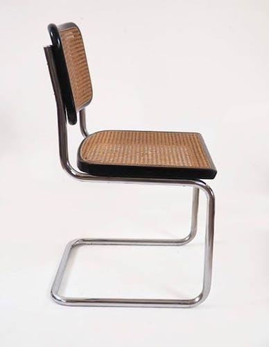 Paire de chaises Cesca B32 Marcel Breuer noire