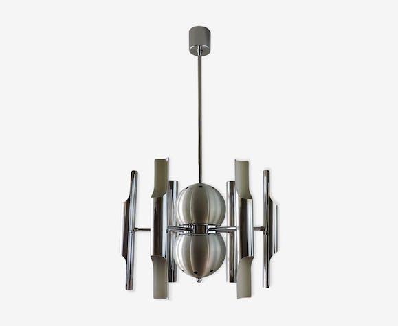 Lustre vintage Italien 12 lampes années 70