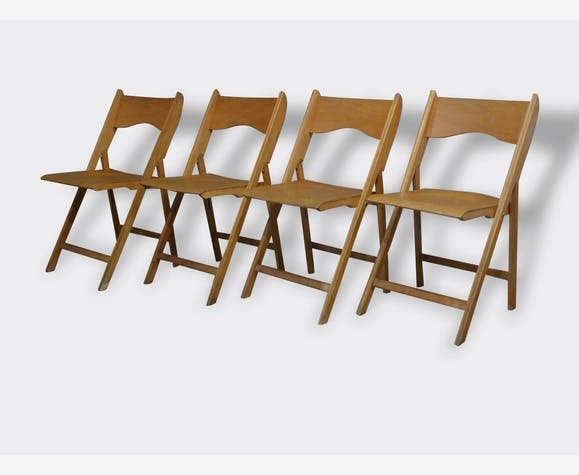 Suite De 4 Chaises Pliantes Scandinaves