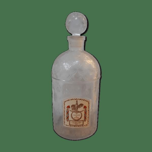 Flacon Bouteille Parfum Guerlain Verre Et Cristal Transparent Bon état Vintage 9o3iata