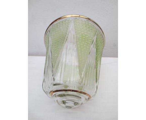 Lampe de table originale métal et verre vintage