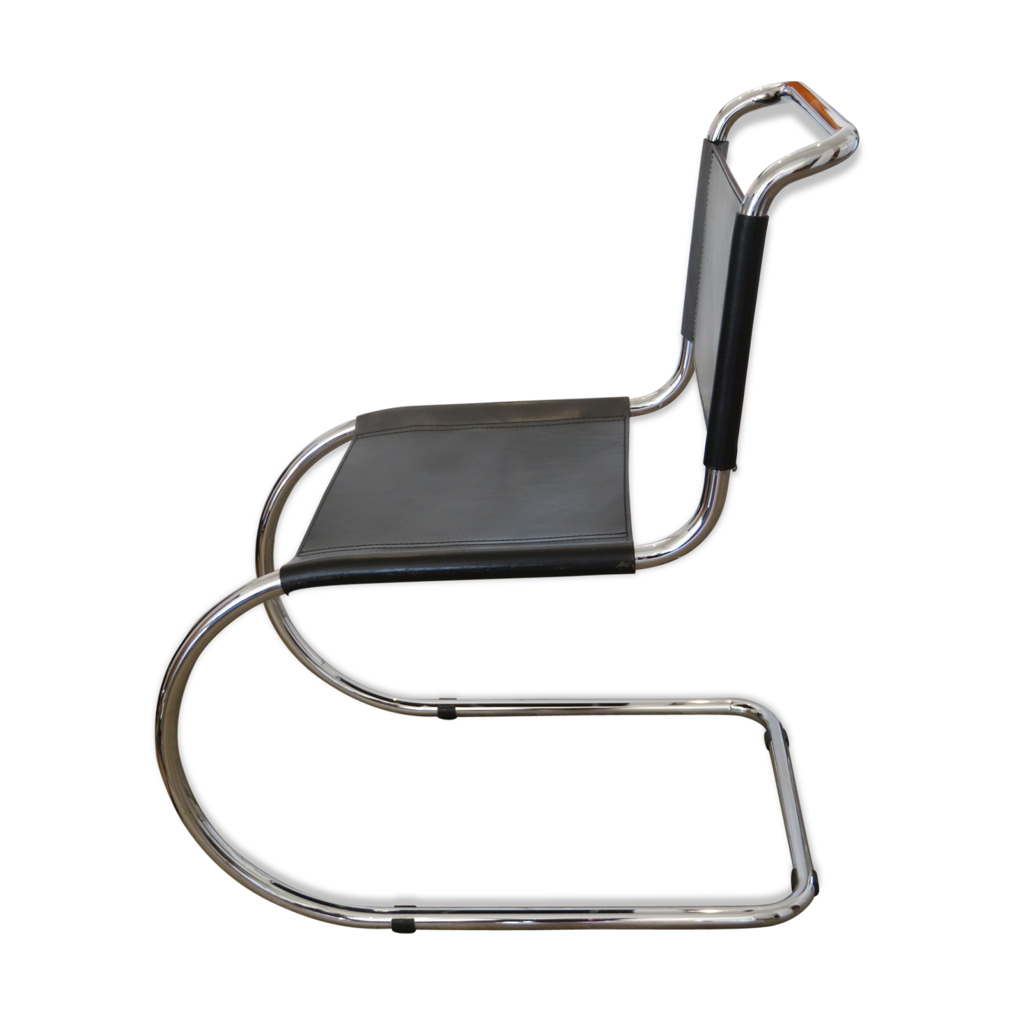 Merveilleux Chair Sled Vintage MR10 By Ludwig Mies Van Der Rohe For Thonet   Metal    Black   Vintage   Q40tdXt