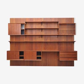 "Poul Cadovius ""Royal"" wall shelf for CADO in teak"