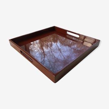 Plateau en bois laqué style Art Déco