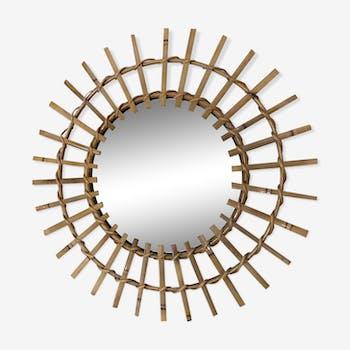 Miroir rotin & osier 47cm