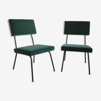 Set of two arm chairs upholstered around 1960