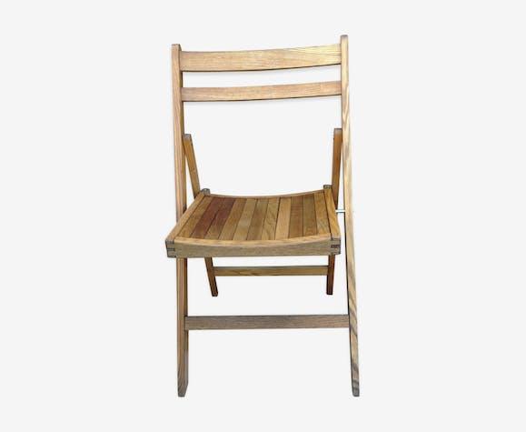 Vintage Wooden Folding Chair 60s Wood Wooden Vintage 4sscf0z
