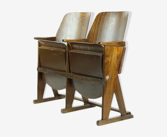 Two-seater cinema bench by Ton (Thonet), Czechoslovakia circa 1960s