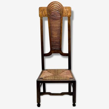 Chair low ethnic style