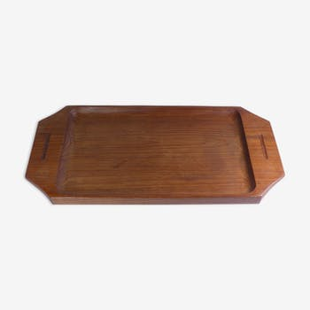 Solid teak tray