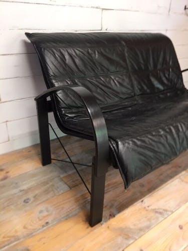 Canapé scandinave en cuir de Tord Björklund 1985