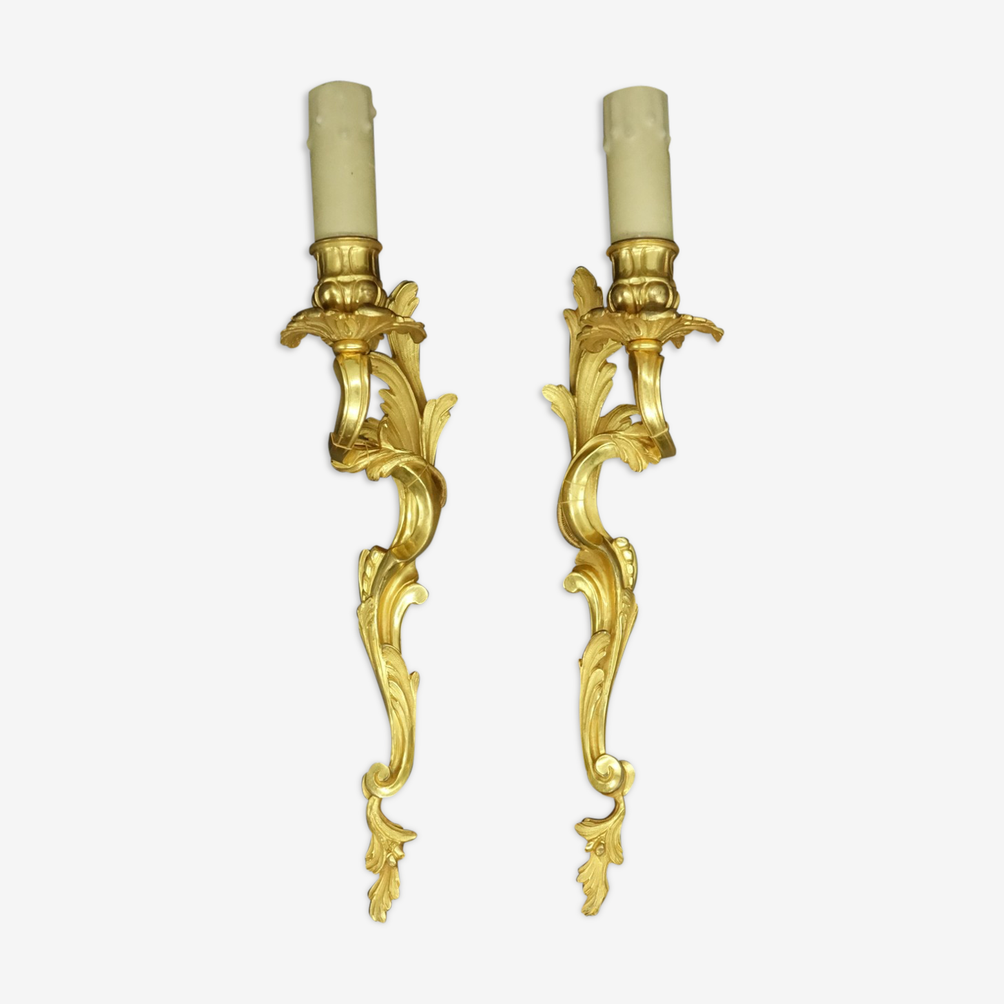 Paire d'appliques style Louis XV du XIXe