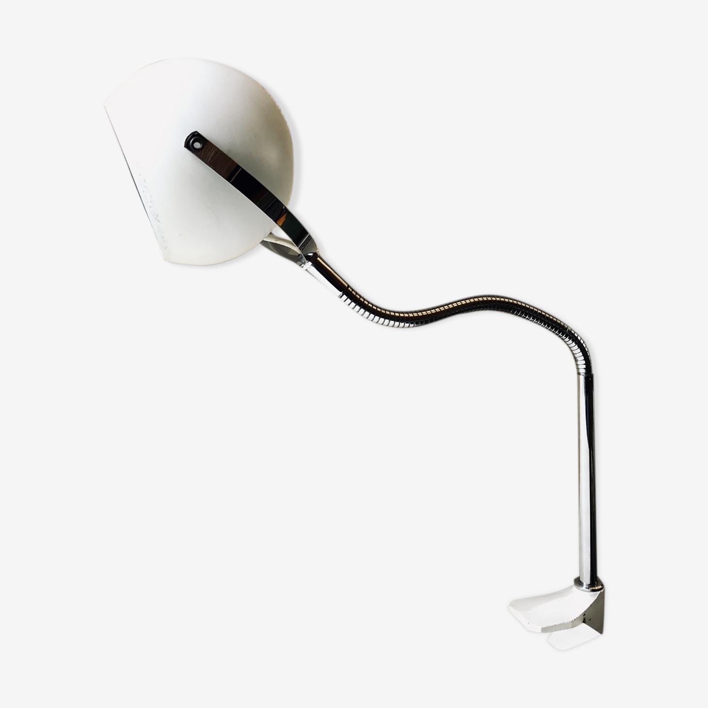 Lampe De Bureau Eyeball Vintage 70 Aluminor Nice Metal Blanc