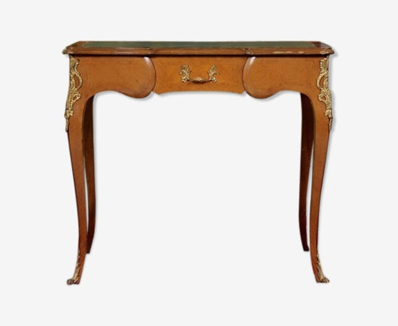 Writing table in gilded wood and Walnut Louis VI