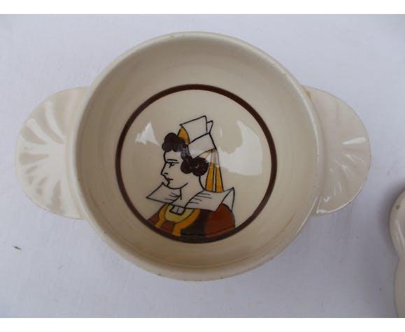 Set 3 Quimper bowls