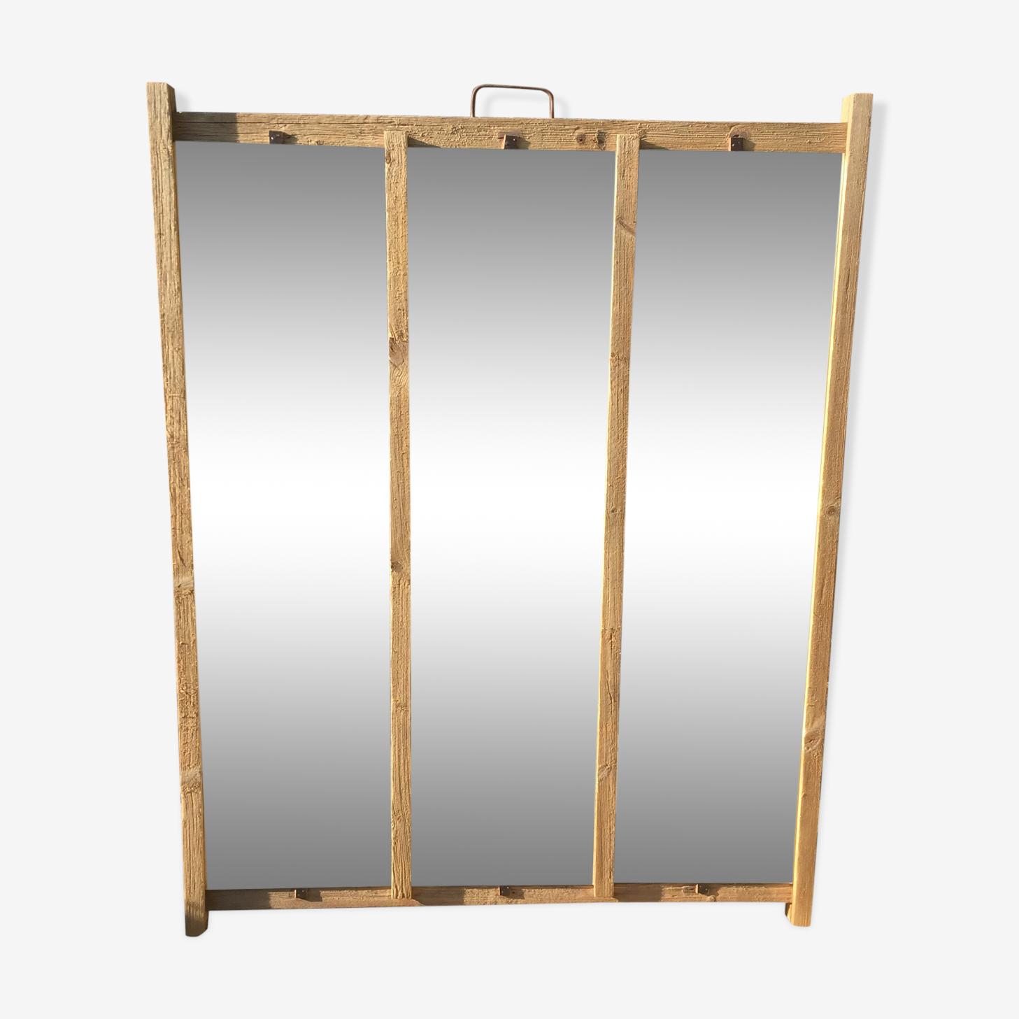 Mirror glass wood 109x140cm