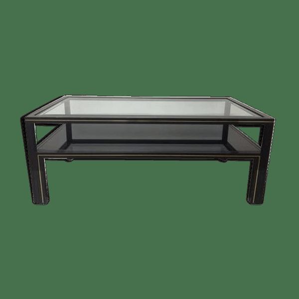 Basse Table Design Pierre Vandel État Métal Ngr6hmy Noir Bon EDHI29W