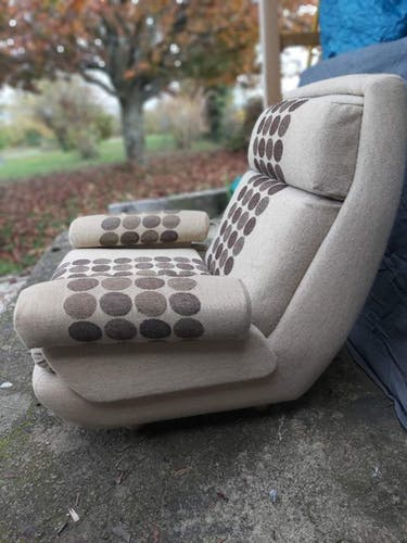 Paire de fauteuils design Jean Prevost, 1970