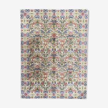 Old French knotted point rug 206x378 cm