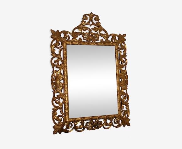 Miroir bois doré époque XlXeme 85x127cm