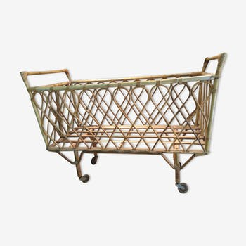 Cradle bed child rattan