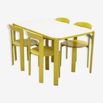 Dining Set by Bruno Rey for Kusch & Co Switzerland 1970s