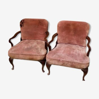 Lot of 2 English chairs
