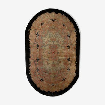 Carpet old Chinese art deco is 89cm x 149cm hand 1920 s