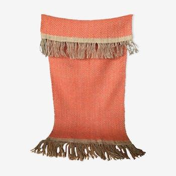 Hemp and wool woven carpet 146x61 cm