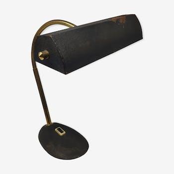 Lampe de bureau noire et laiton 70
