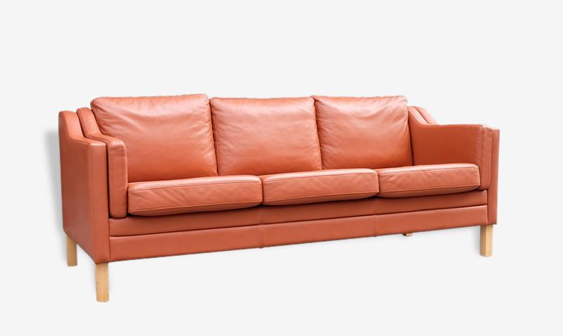 Canapé cuir fauve