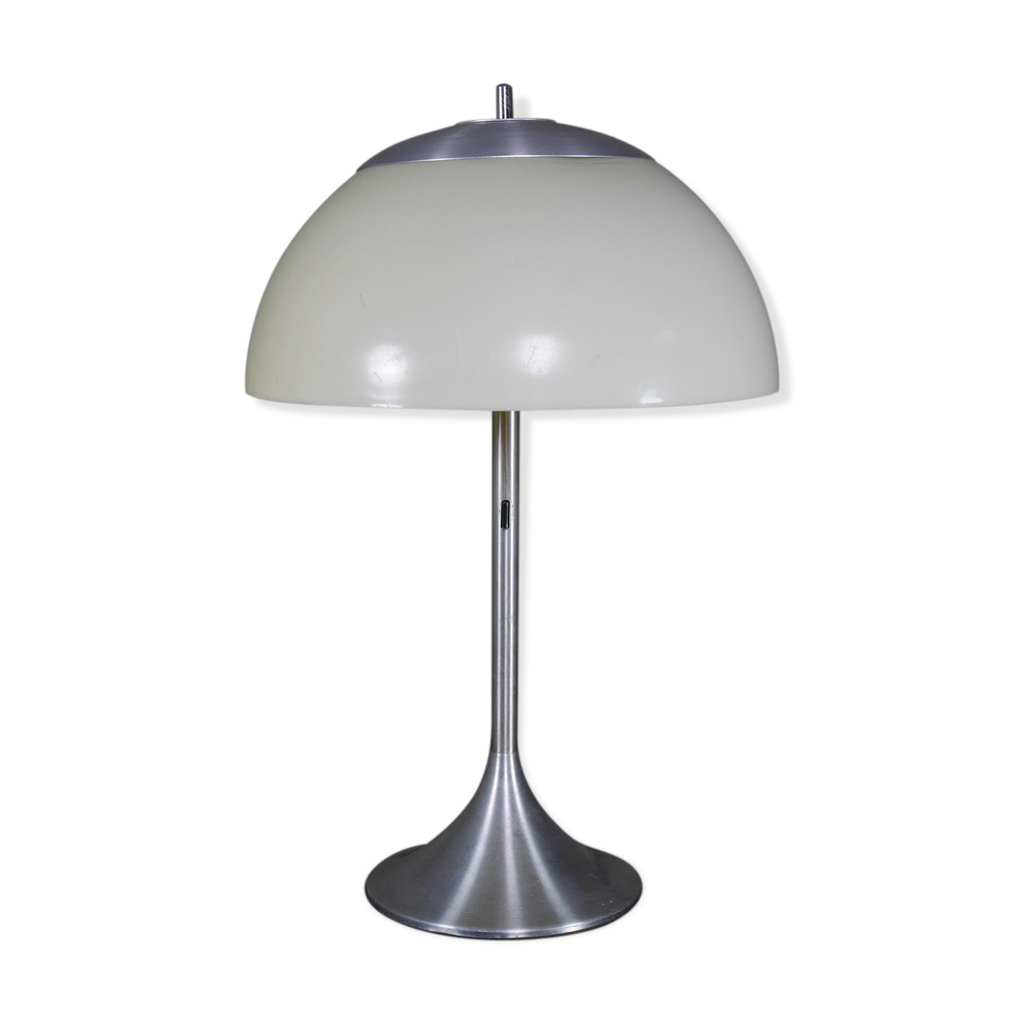 Lampe Champignon Globe Et Métal Unilux Des Années 70 - Métal