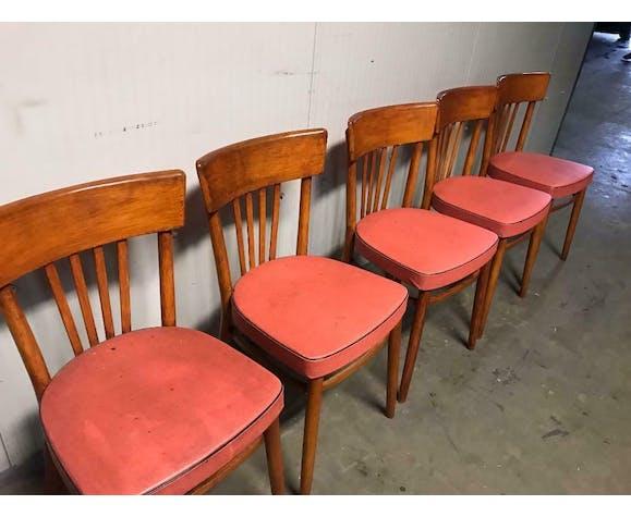 Ensemble de 5 chaises vintage